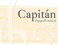 """Tipografía musical """"Capitán"""""""