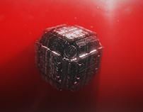 """Free After Effects Template """"Sci-fi Cube Logo Reveal"""""""
