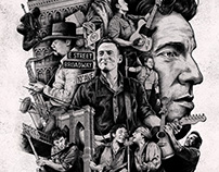 NYC Serenade - Bruce Springsteen Illustration