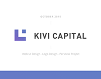 Kivi Capital | Website UI Design | Personal Project