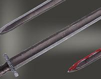 WS 2D Sword - Black Nordic Blade