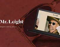 Eyewear Website Design - Mr.Leight