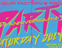 Daiquiri Factory & RIBCO Anniversary Party Poster 2017