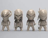 Toys sculpt for Glitch Network
