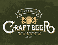 CRAFT BEER -retro vintage logo design