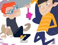 illustration for children's games
