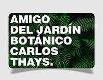 Credencial de Membresía / Jardín Botánico de Bs. As.