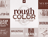 Rough and Color font Collection vol1 - 11 fonts