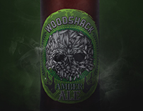 Wood Shack Amber Ale: Illustration & Beer Label Design