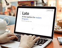 Visual Identity of Lato's typeface. #visualdesign #DWM