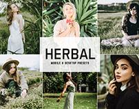 Free Herbal Mobile & Desktop Lightroom Presets