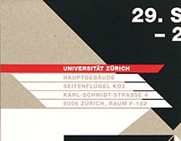 University of Zurich Lecture Poster and Invitation