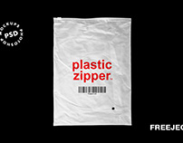 3 Plastic Zipper Bag Mockups - Free PSD File