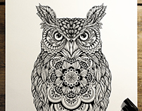 'Great Horned Owl' - commission for Hoot Watches