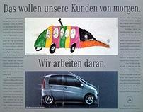 """Mercedes-Benz. Print ad """"IAA"""" 1993."""