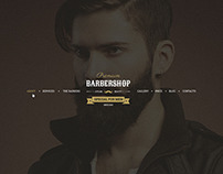 Barbershop - One Page Barbers Theme