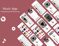 Music Player App | Wireframing & Prototyping