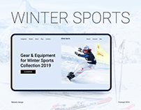 Winter Sports. Website design concept