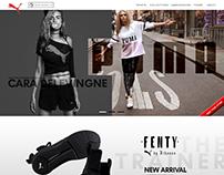 PUMA Web Design Mockup
