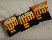 Handmade Harry Potter Gryffindor Trio v1.43 Pillow Set