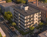 Architectural render I Social housing
