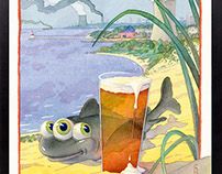 Shoreline Brewery Poster