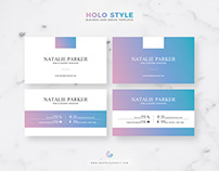 Free Holo Style Business Card Design Templates