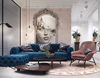 Windowless living room