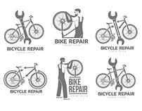 Logo templates for bicycle repair companies
