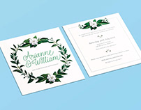 White Picnic Invitations