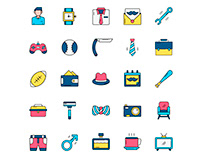 Father's Day Icons Set