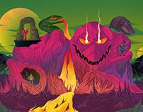 Snake Mountain - MATTEL art show