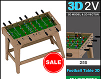Football Table 3D Model