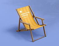 Beach Chair Mockup with Armrest