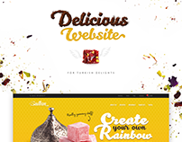 Delicious website for turkish delights shop