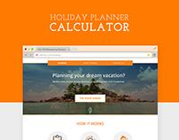 Holiday Planner Calculator