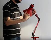 Sculptural Improvisation for Articulated Lamp