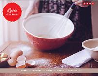 Laura's Little Bakery: Wordpress Website