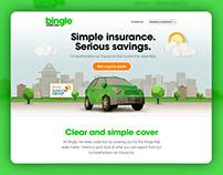 Bingle - Car Insurance Website Template