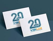 Vigiluz 20 Anos - Logótipo