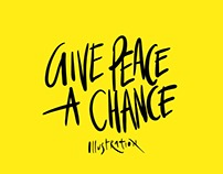 Give Peace a Chance - John Lennon Illustration