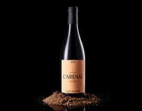 L'Arenal. Can' Leandro. Wine label design