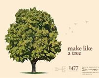 Make Like a Tree - Typeface Design