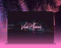 VUE AVENIR - 80s Neon Website (Concept)