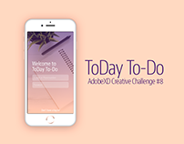 AdobeXD Creative Challenge #8 - To-do List