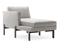 Chaise lounge sofa 3d modeling and visualization