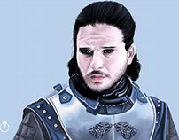 Jon Snow, GOT painted in Adobe Photoshop CC