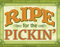 Ripe for the Pickin Promotional Postcard