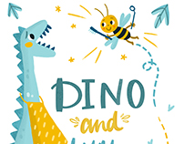 Dino and little bee