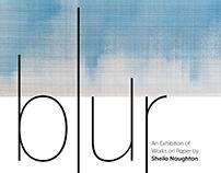 blur exhibition poster
